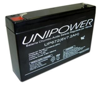 Bateria Selada 6V 7,2AH UP672 Unipower