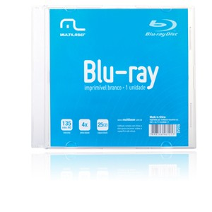 Mídia Blu-ray 25GB 6X c/ Case DV056 Multilaser