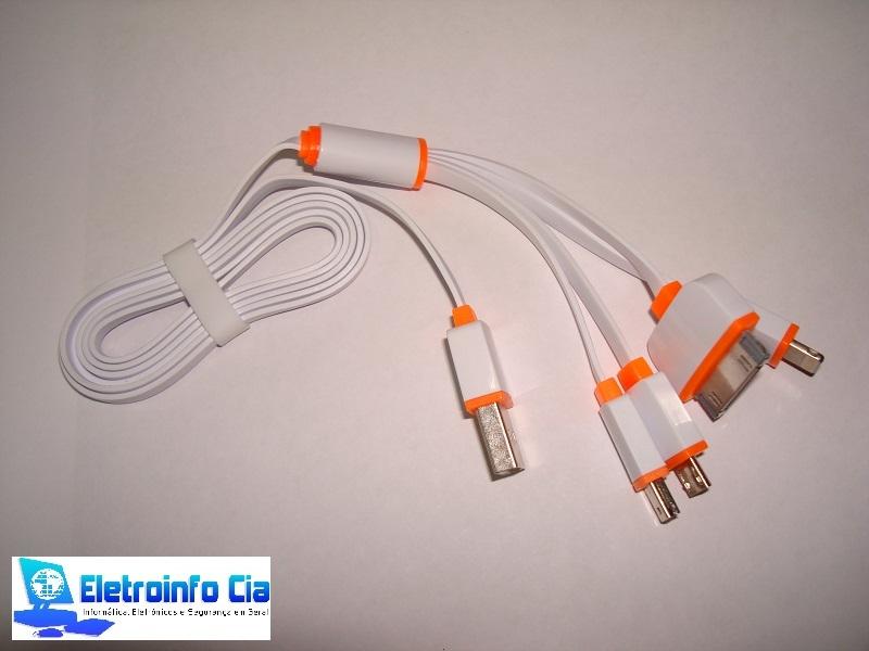 Cabo 4X1 Para Iphone,IPAD, Samsung Micro USB E Outros RONTEK