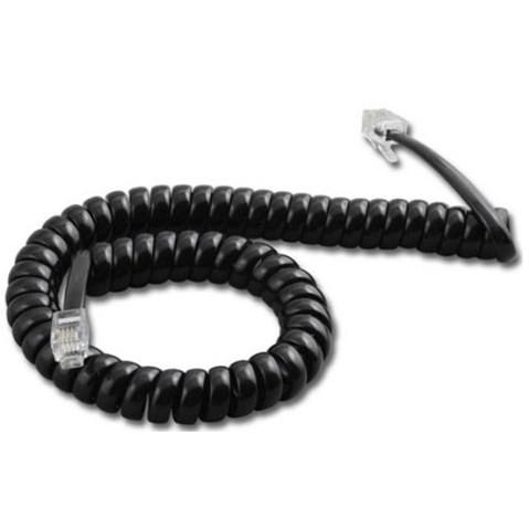 Cabo / Cordão Espiral Monofone Preto Multitoc