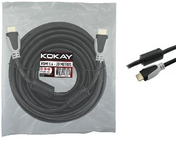 Cabo HDMI 20 Metros 1.4 4K 15 Pinos ChipSCE  - Eletroinfocia