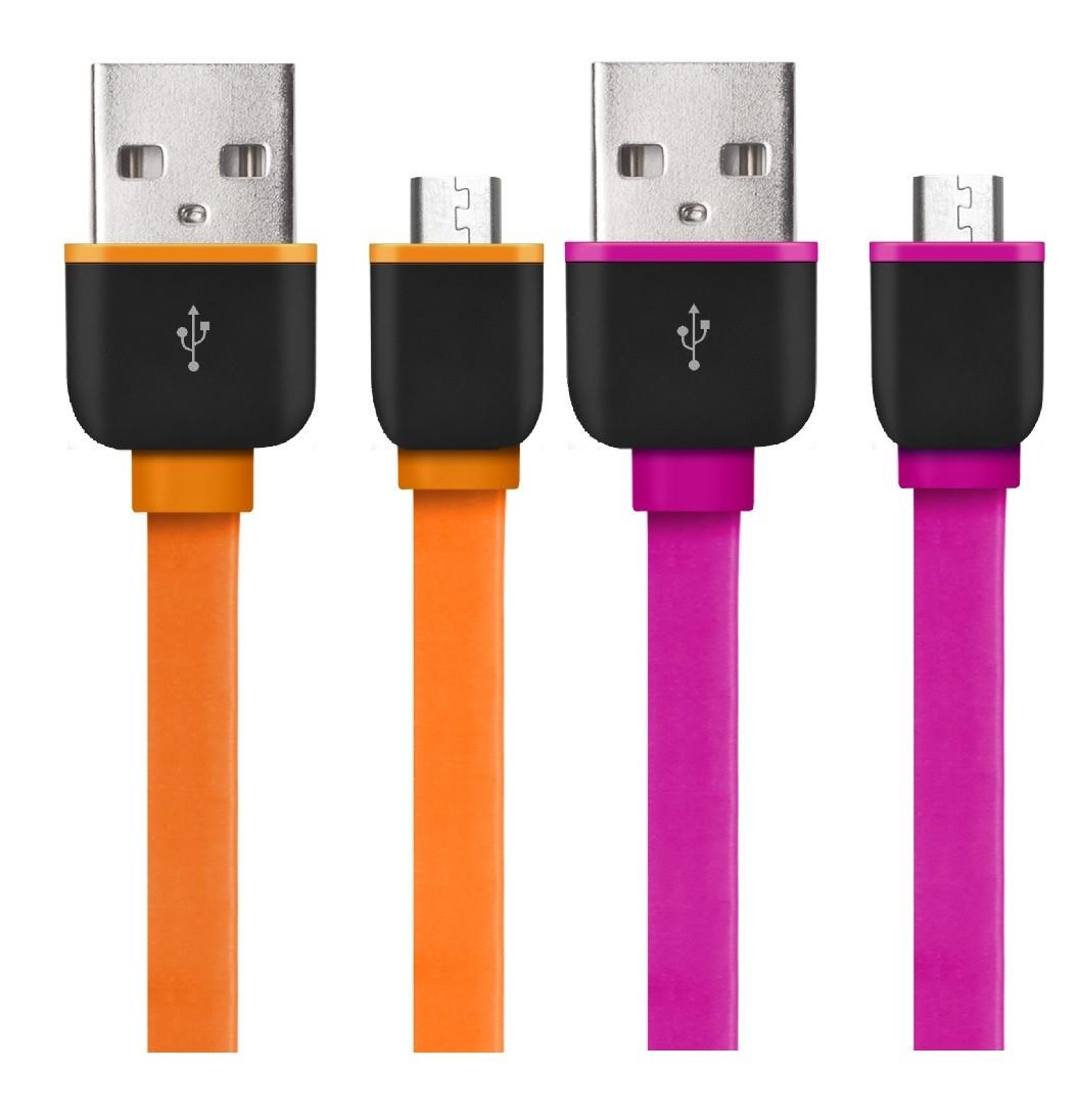 Cabo Micro USB 2 Metros Smartogo Sortido WI312 Multilaser  - Eletroinfocia