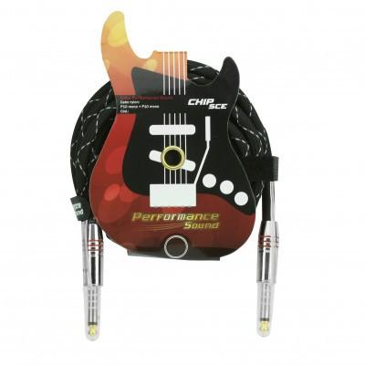 Cabo P10 Mono + P10 Mono Nylon Performance Sound 3,0Mts Chip Sce  - Eletroinfocia