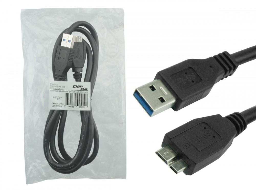 Cabo USB 3.0 Samsung Galaxy S5/NOTE3 1,2m