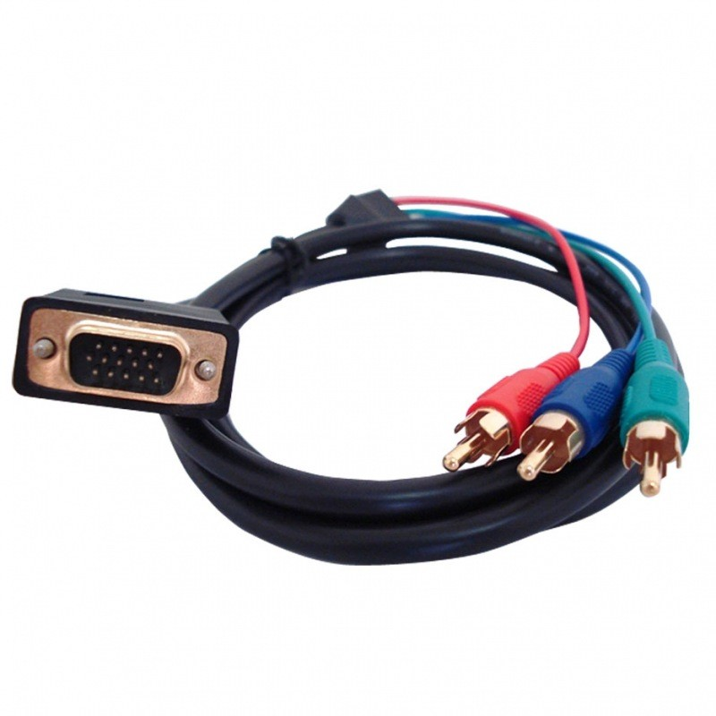 Cabo VGA DB15 M x 3 RCA 3.0Mts W320.053  - Eletroinfocia