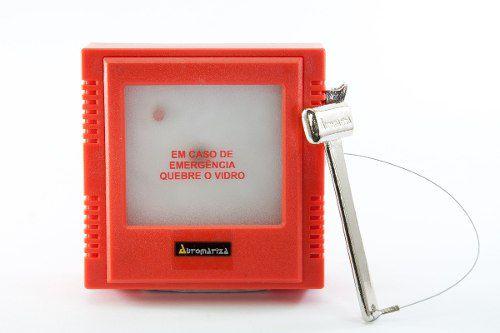 Caixa De Emergência Quebra Vidro Automatiza  - Eletroinfocia