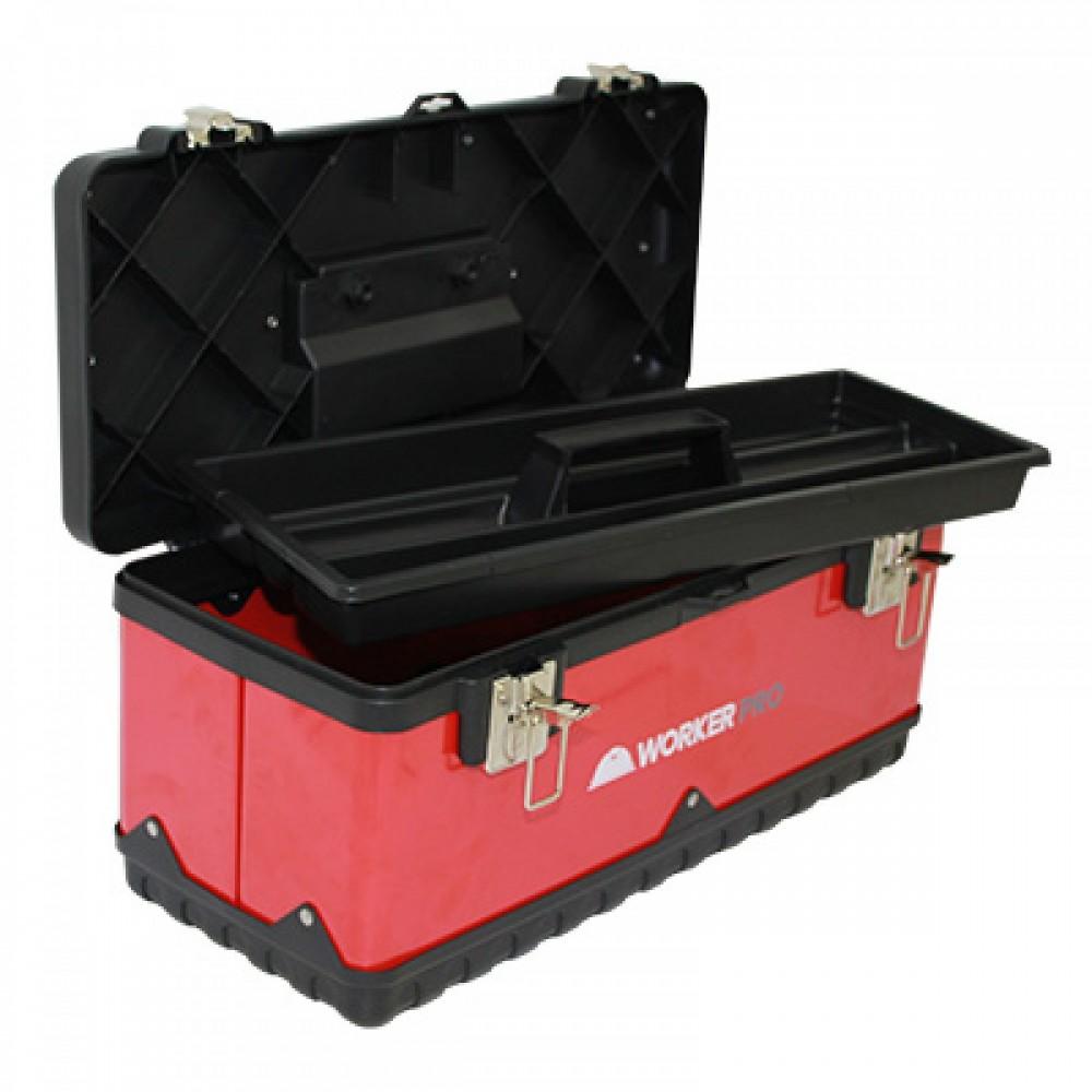 Caixa de Ferramentas Metal / Plastica Pro 500x205x220mm Worker  - Eletroinfocia