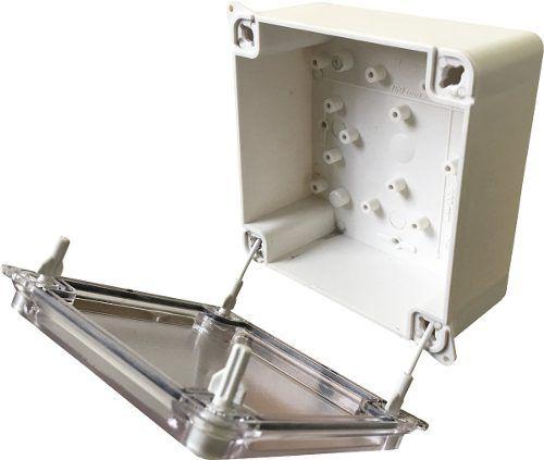 Caixa de Passagem Prática 100X100X50mm Branca + Tampa Opaca Multitoc  - Eletroinfocia