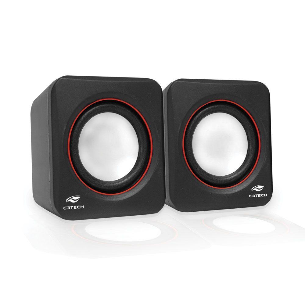 Caixa de Som 2.0 SP-301BK C3 Tech  - Eletroinfocia