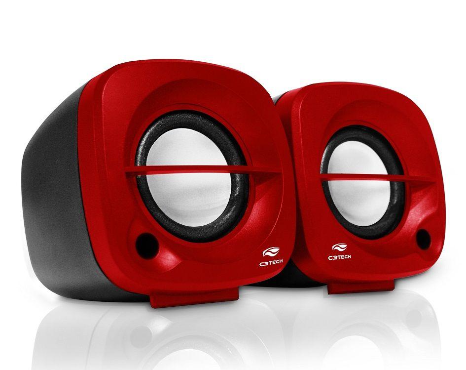 Caixa de Som 2.0 SP-303RD C3 Tech  - Eletroinfocia