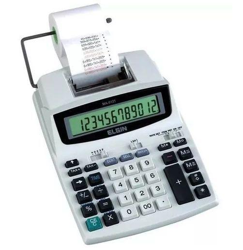 Calculadora com Impressão Bicolor MA5121 Bi-volt Elgin