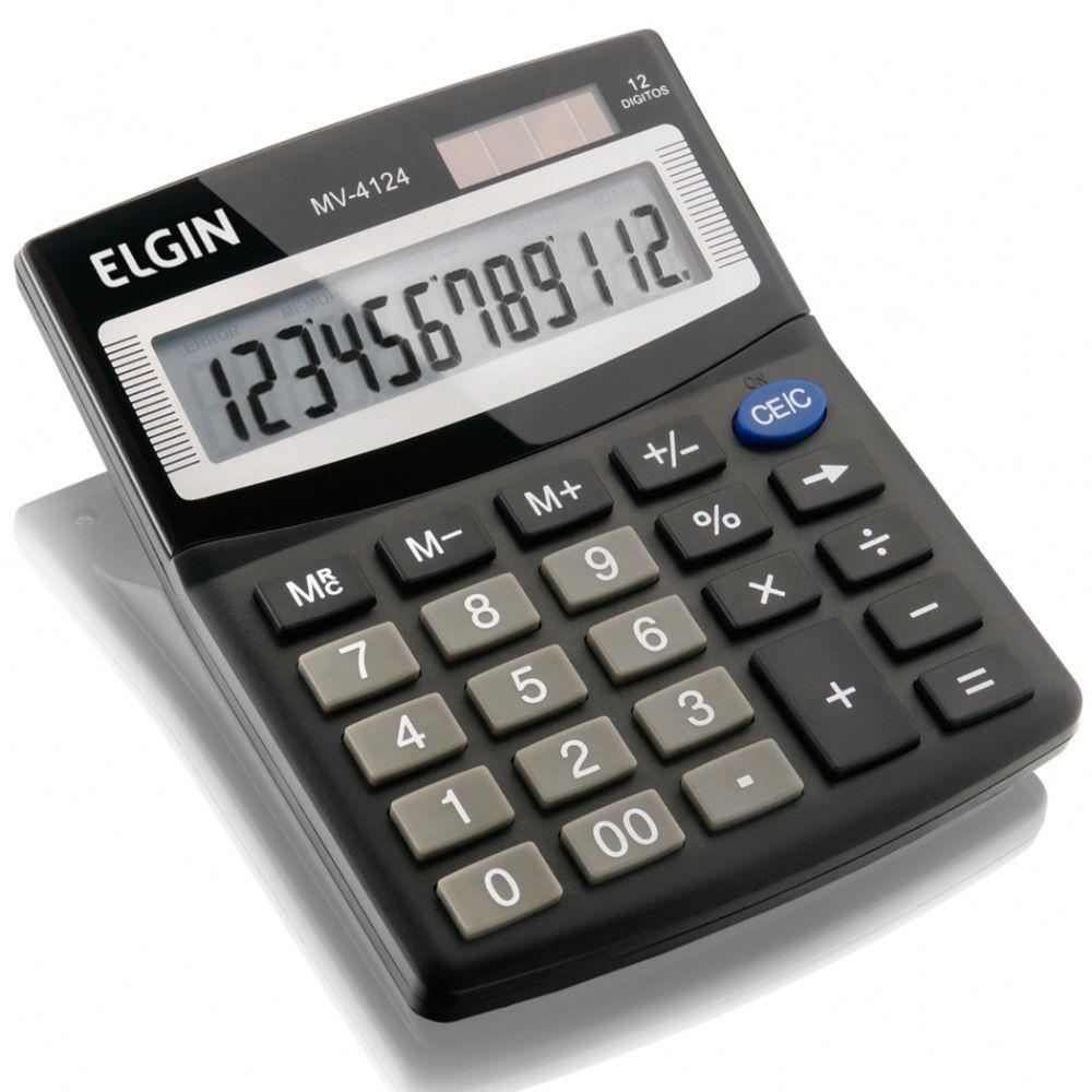 Calculadora de Mesa Solar 12 Digitos MV4124 Elgin