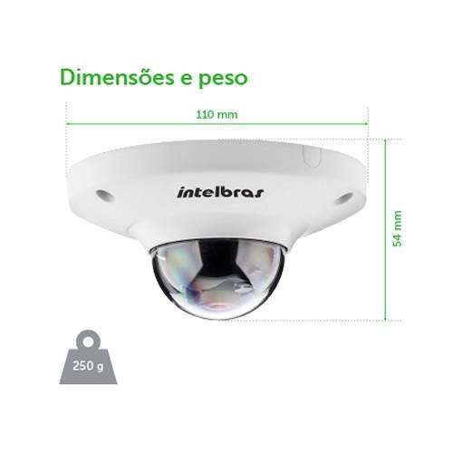 Câmera IP VIP E6400 Fisheye 4Mp/1.18Mm Intelbras  - Eletroinfocia