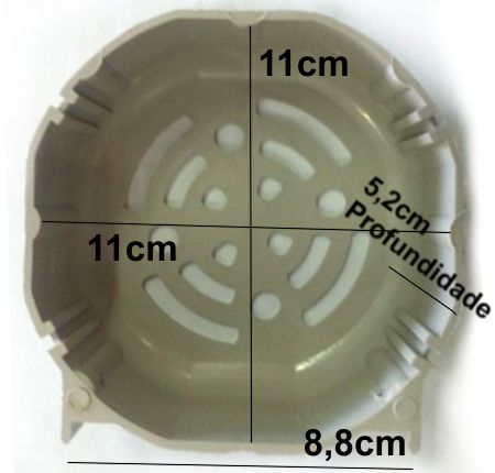 Carenagem Proteção Ventoinha Max / Planetaria Motor Garen  - Eletroinfocia