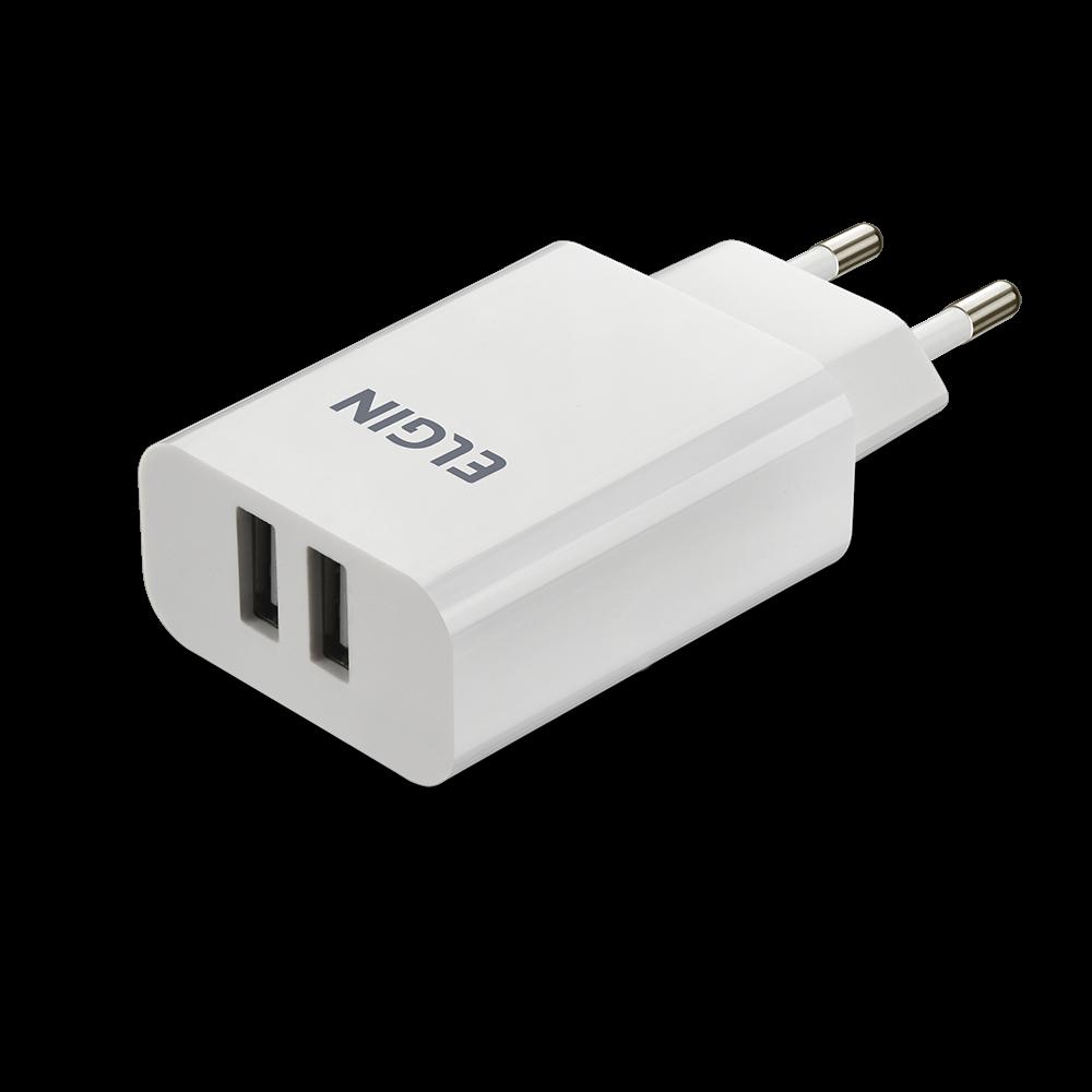 Carregador 2 X USB 2A 10W Bi-Volt Elgin  - Eletroinfocia