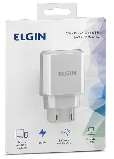 Carregador 2 X USB 2A 10W Bi-Volt Elgin