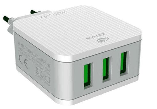 Carregador AC/USB Universal 3,1A UC-315WH C3 Tech