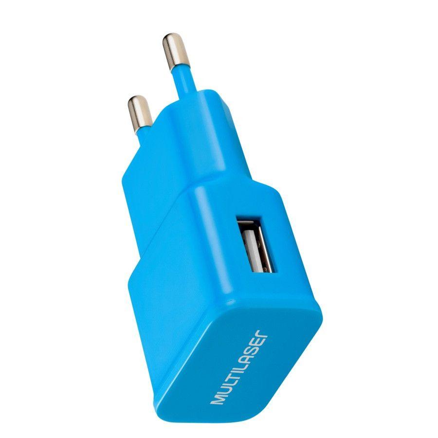 Carregador de Parede Smartogo USB Azul CB080A Multilaser  - Eletroinfocia