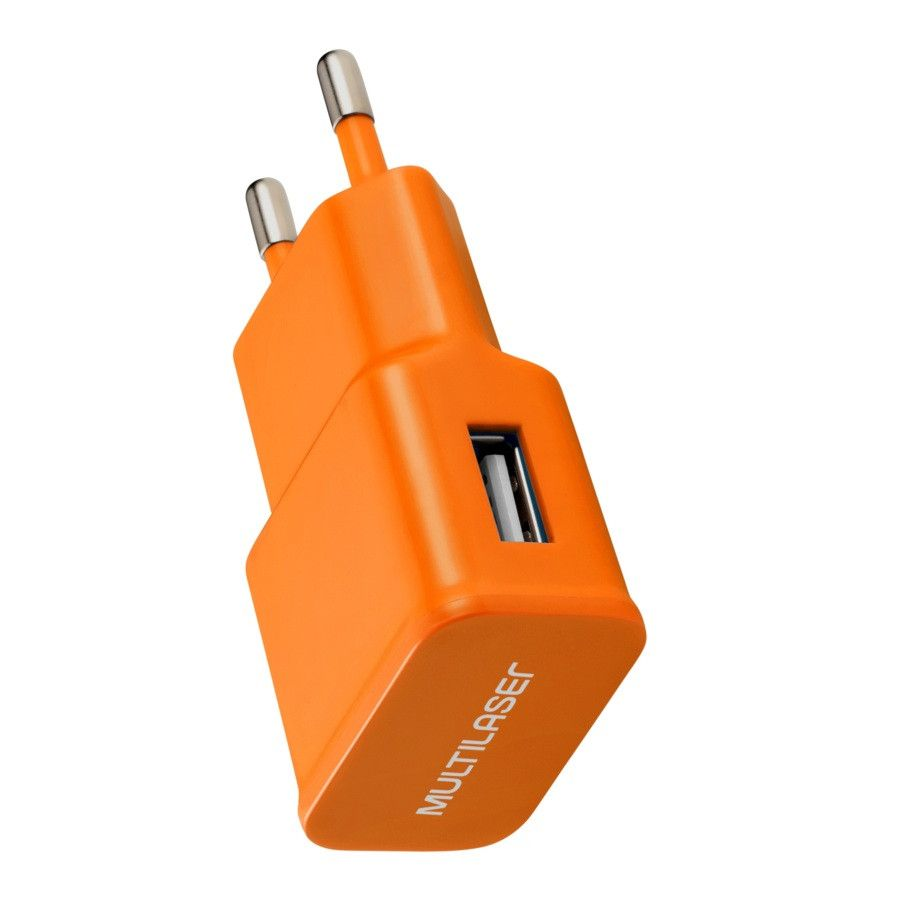 Carregador de Parede Smartogo USB Laranja CB080L Multilaser