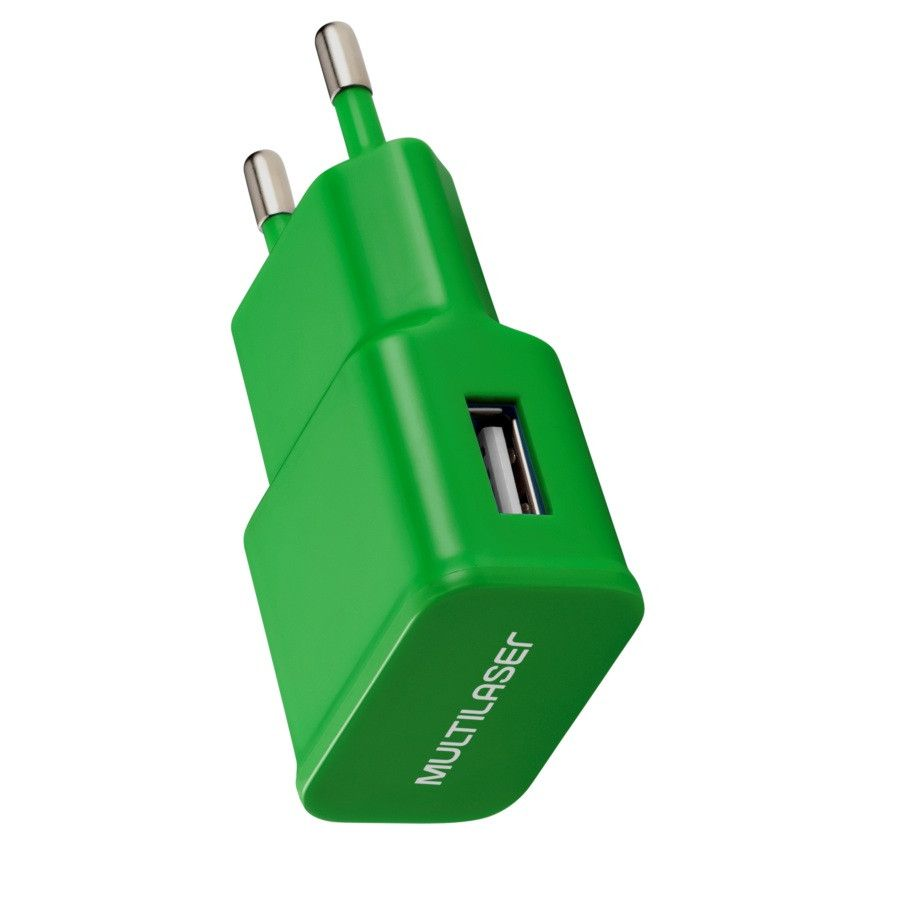 Carregador de Parede Smartogo USB Verde CB080V Multilaser  - Eletroinfocia