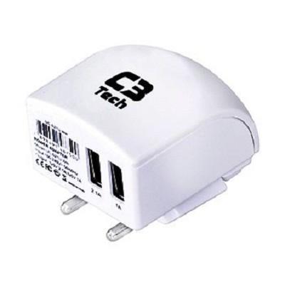 Carregador Multifuncional 2 USB + Tomada UC-021U WH C3 Tech