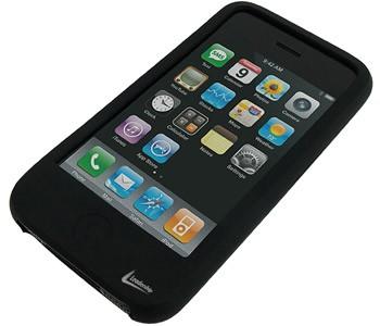 Case Preto de Silicone para iPhone 3G e 3GS LeaderShip 3006