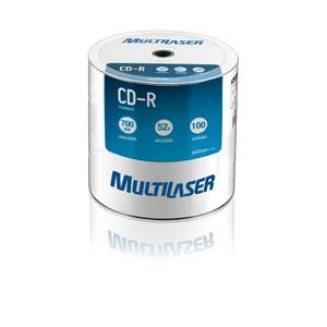 CD-R 700MB Imprimível Branco Unidade CD021 Multilaser