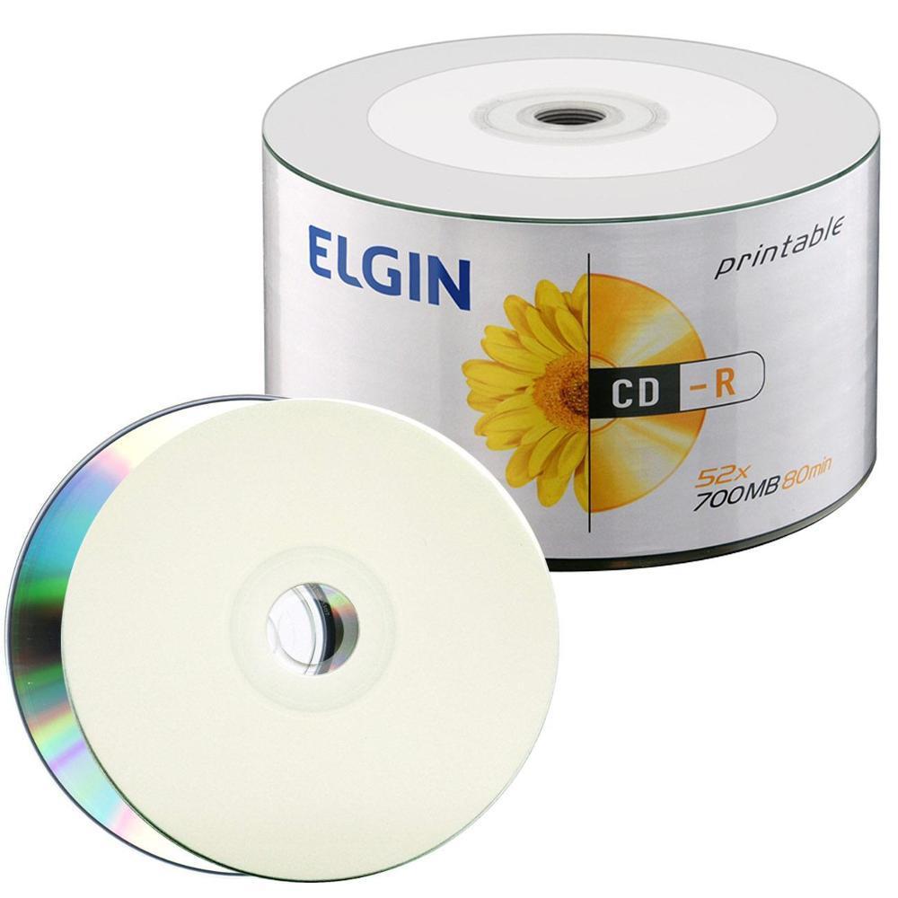 Mídia CD-R 52X 700MB Printable c/ 50UN Elgin