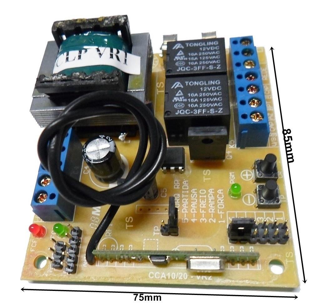 Central de Comando Universal p/ Portão 433MHZ CCA-10 Bi-volt RCG  - Eletroinfocia