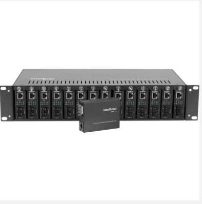Chassi C/14 Slots P/Conversores de Mídia KX 1400 R Intelbras