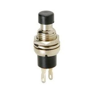 Chave / Interruptor Push-Button 1A 250V NA preto