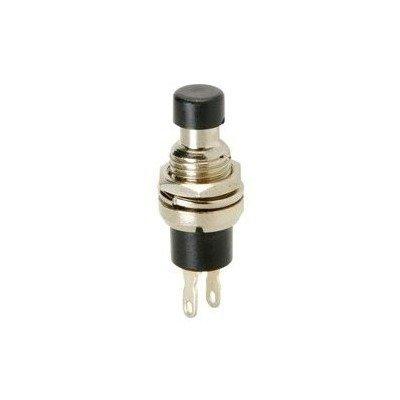 Chave Push Button N/A DS-323 2 Terminais S/ Trava Preto