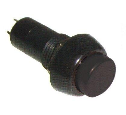 Chave Push Button N/A PBS-11B 2 Terminais S/ Trava Preto