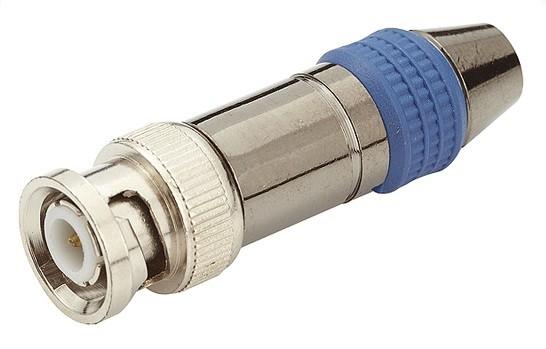 Conector BNC Macho p/ aparafusar cabo RGC58/59 com luva proteção  - Eletroinfocia