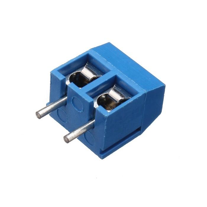 Conector Borne KRE p/ PCI 2 pinos 180° Azul