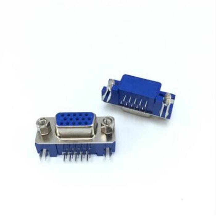 Conector DB15 HD VGA PCI 90 Graus Curto