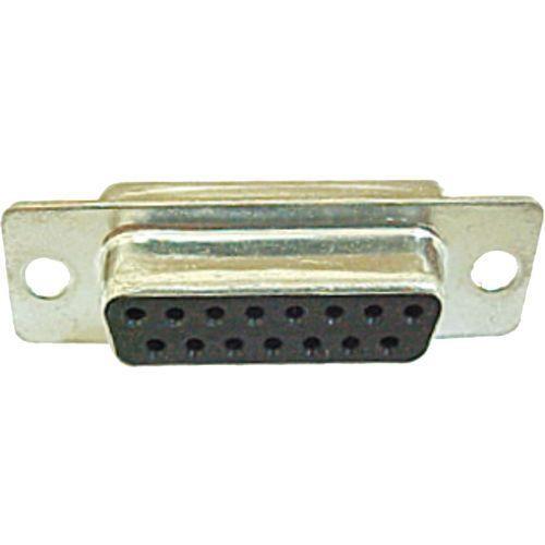 Conector DB15 Serial Fêmea c/ pinos solda fio