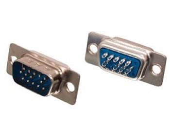 Conector DB15 VGA Macho c/ pinos solda fio
