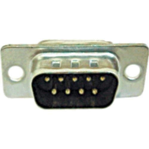 Conector DB9 Macho c/ Pinos Solda Fio