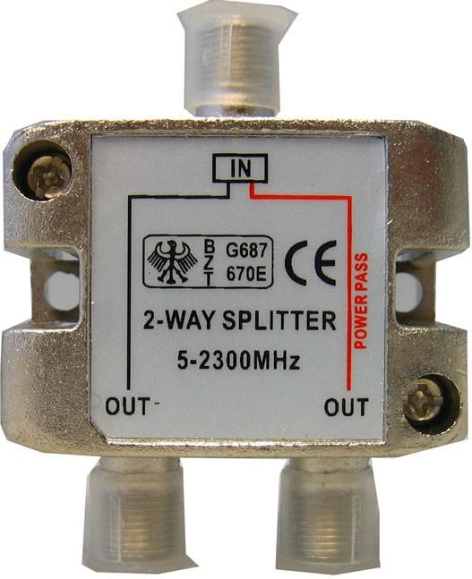 Divisor de Sinal Antena 5-2300Mhz 1/2 Vias