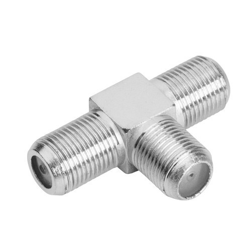Conector F / Coaxial Tipo T 3 Fêmeas