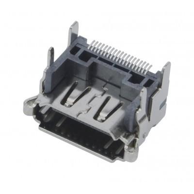 Conector HDMI P/ Circuito Impresso 180° com Sup. Terra 90°