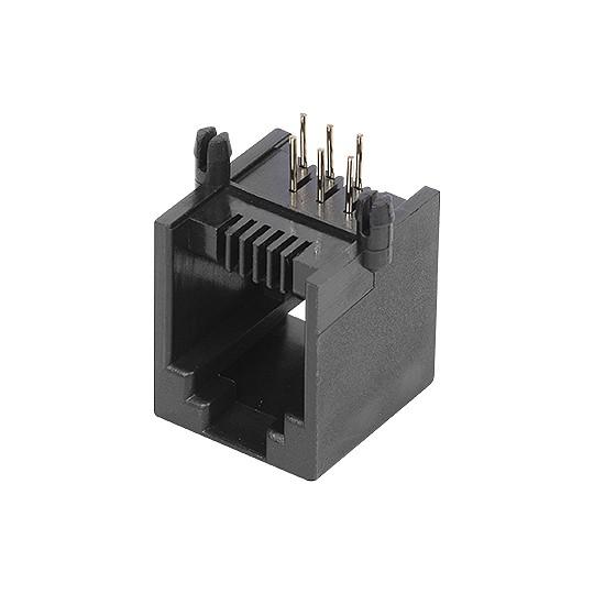 Conector Jack PCI PCB 6P6C Preto