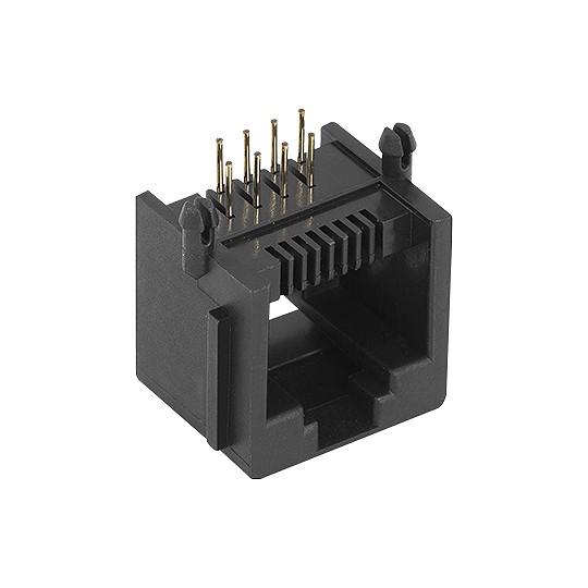Conector Jack TFN 88 PCB 90 Graus 8P8C Preto