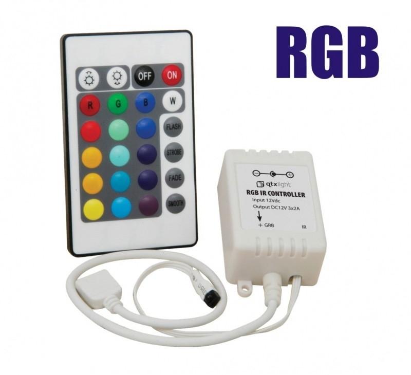 Controlador p/ fita de Led RGB com 24 teclas 12V