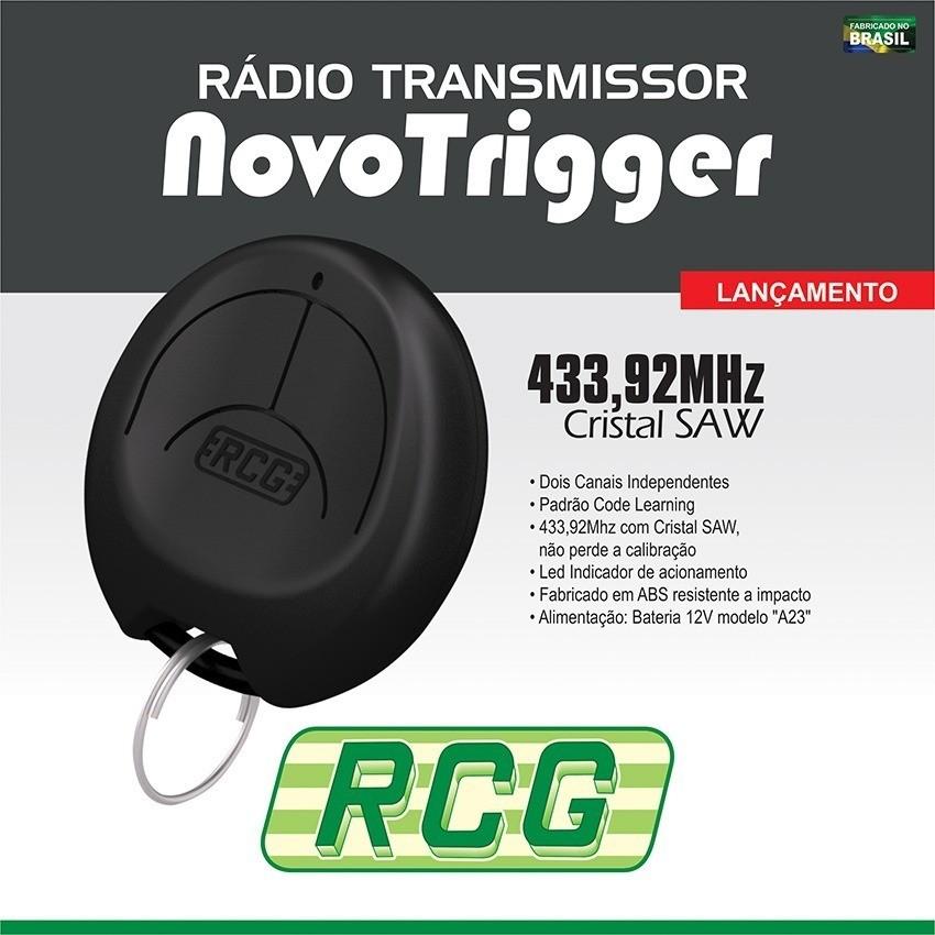 Controle Rádio Transmissor 433.92MHZ Trigger Preto RCG  - Eletroinfocia