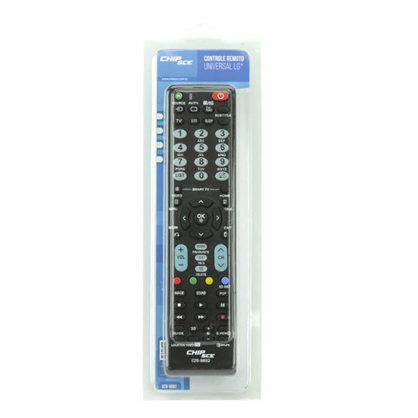 Controle Remoto Universal para TV LG ChipSce