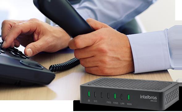 Conversor de Protocolo IP - ATA 200 Intelbras  - Eletroinfocia