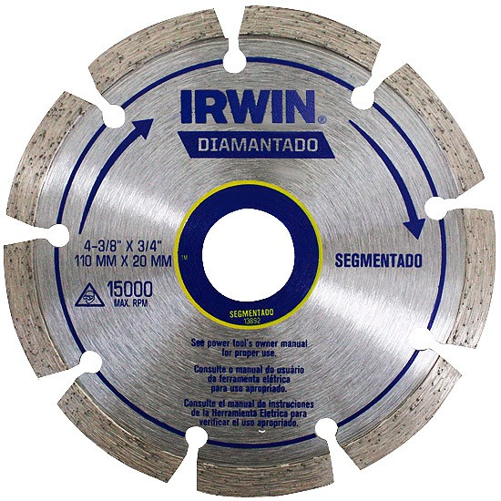 Disco Diamantado Segmentado 110X20mm Irwin