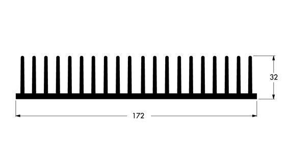 Dissipador De Calor De Alumínio 17,2cm Largura C/ 15cm